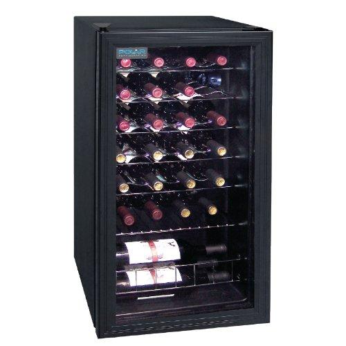 polar wine fridge holding 28 bottles of wine