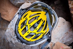 MIPS technology inside a bike helmet