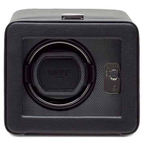 Wolf Watch Winder Windsor Single With Cover Black Grey 4525029 Watch Winder