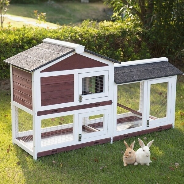 FeelGood UK BUNNY ARK Double Tier Rabbit Hutch