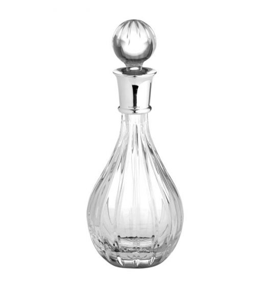 Carrs Silver Linear Cut Wine Decanter
