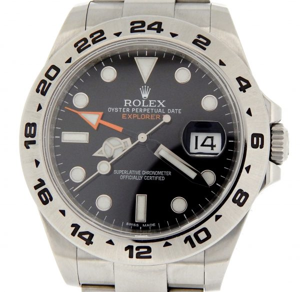 rolex explorer 11 with orange hand