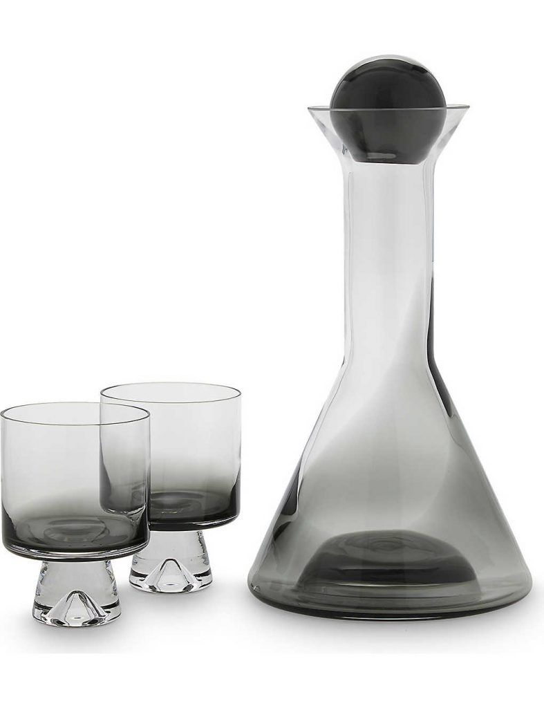 om dixon wine decanter set