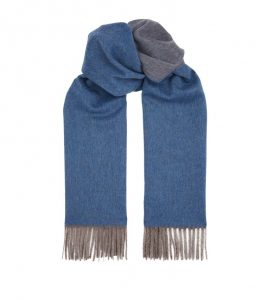 Isaia Reversible Cashmere Scarf