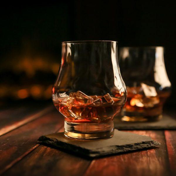 Taylor'd Milestones Reserve Whiskey Scotch Glasses