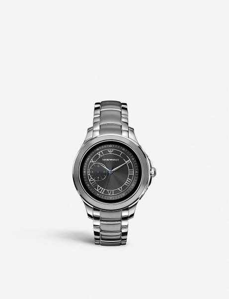Best Luxury Smartwatches Emporio Armani Mens Smartwatch with Stainless Steel Strap ART5010